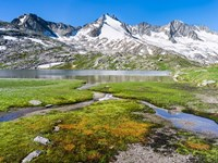 Reichenspitz Mountains and Lake Gerlos Fine Art Print