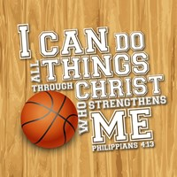 I Can Do All Sports - Basketball Framed Print