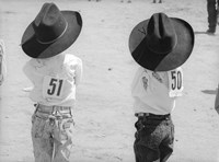 Littlest Cowboys: 50 & 51 Fine Art Print