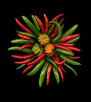 Hot Peppers 1 Fine Art Print