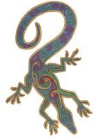 Lizard Trispiral Fine Art Print