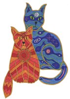 Night and Day Cats Fine Art Print