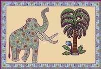 Elephant Left Page Framed Print