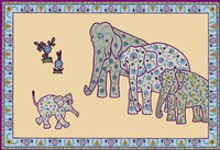Elephant Right Page Framed Print