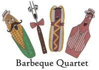 Barbeque Quartet Fine Art Print