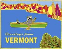Canoe Racoon Fine Art Print