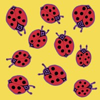 10 Ladybugs Fine Art Print