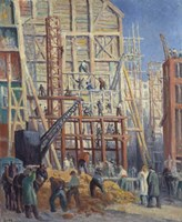 The Construction Site, 1911 Fine Art Print