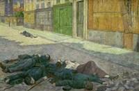 A Street In Paris In May, 1871 Fine Art Print