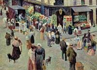 La Rue Des Abesses, Paris Fine Art Print
