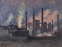 Factories Near Charleroi, 1897 Fine Art Print