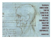 To Develop a Complete Mind -Da Vinci Quote Fine Art Print