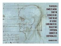 To Develop a Complete Mind -Da Vinci Quote Fine Art Print
