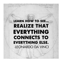 Learn How to See -Da Vinci Quote Fine Art Print
