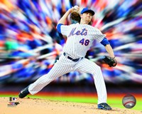 Jacob deGrom Motion Blast Fine Art Print