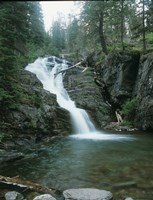 Glacier National Park Waterfall 8 Fine Art Print