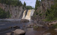North Shore Waterfall And Lake I Fine Art Print