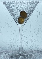 Olive Duo In Martini Glass I Fine Art Print