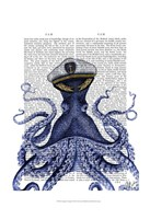 Captain Octopus Framed Print
