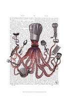 Octopus Fabulous French Chef Fine Art Print