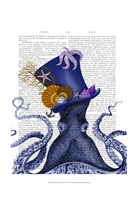 Octopus Nautical Hat Fine Art Print