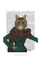 Feline Fashionista Framed Print