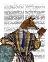 Book Reader Fox Framed Print