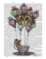 Cheshire Cat Hot Air Balloon Framed Print