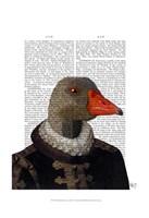 Elizabethan Goose in a Ruff Framed Print