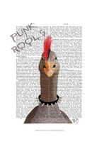 Punk Rock Goose Framed Print