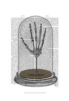 Skeleton Hand In Bell Jar Framed Print