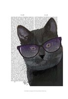 Black Cat with Sunglasses Framed Print
