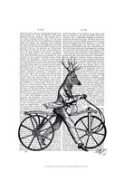 Dandy Deer on Vintage Bicycle Framed Print