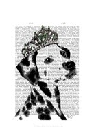 Dalmatian with Tiara Framed Print