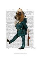 Basset Hound Policeman I Framed Print