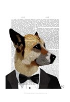 Debonair James Bond Dog Framed Print