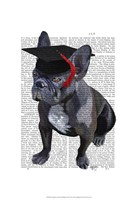Graduation French Bulldog Framed Print