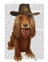 Cocker Spaniel Cowboy Framed Print