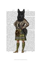 Scottish Terrier in Kilt Fine Art Print