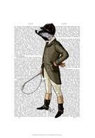 Badger The Rider Full I Framed Print