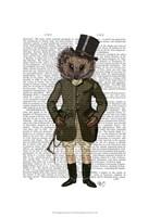 Hedgehog Rider Full Framed Print
