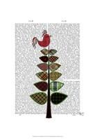Tartan Tree Illustration Framed Print