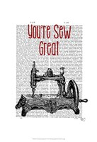 You're Sew Great Illustration Framed Print