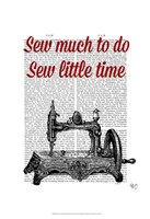 Sew Little Time Illustration Framed Print