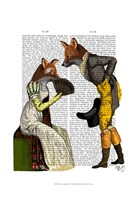 Foxes Courting Framed Print