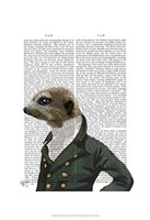 Dandy Meerkat Portrait Framed Print