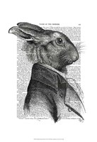 Rabbit Portrait Profile Framed Print