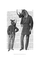 Rhinos Fathers Day Framed Print