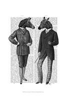 Two Zebra Gentlemen Framed Print