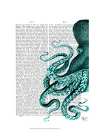 Octopus Green Half Framed Print